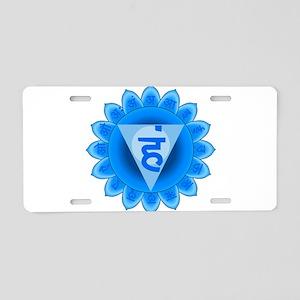 Blue Vishuddhi Throat Chakr Aluminum License Plate