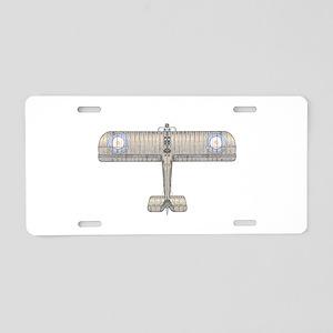 Sopwith Camel Biplane Aluminum License Plate