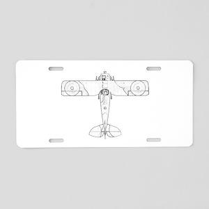 SPAD S.VII Biplane Aluminum License Plate