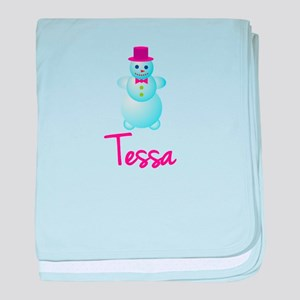 Tessa the snow woman baby blanket