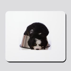 Passed out Puppy Mousepad