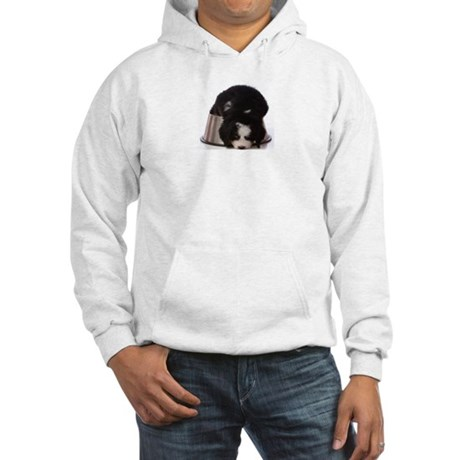Passed out Puppy Hooded Sweatshirt