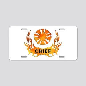Fire Chiefs Flame Tattoo Aluminum License Plate