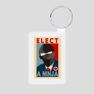 Elect A Ninja Aluminum Photo Keychain
