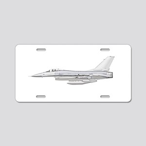 F-16 Fighting Falcon Aluminum License Plate
