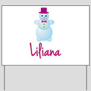Liliana the snow woman Yard Sign