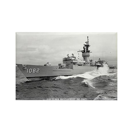 USS ELMER MONTGOMERY Rectangle Magnet