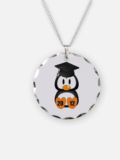 Custom Gradution Penguin Necklace Circle Charm