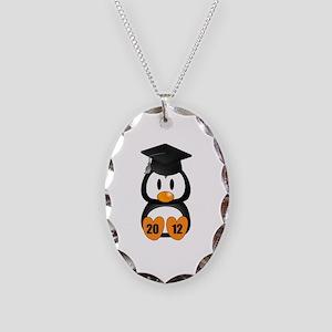Custom Gradution Penguin Necklace Oval Charm