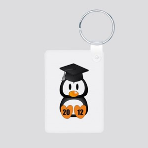 Custom Gradution Penguin Aluminum Photo Keychain