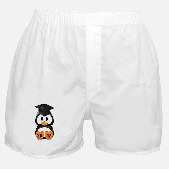 Custom Gradution Penguin Boxer Shorts