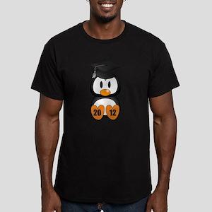 Custom Gradution Penguin Men's Fitted T-Shirt (dar