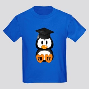 Custom Gradution Penguin Kids Dark T-Shirt