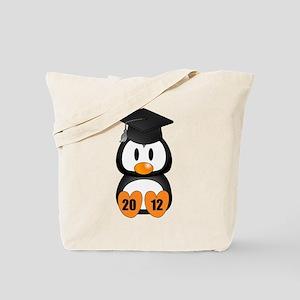 Custom Gradution Penguin Tote Bag