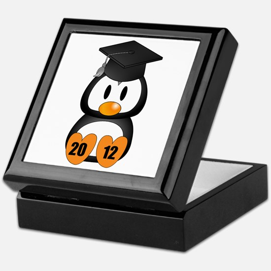 Custom Gradution Penguin Keepsake Box