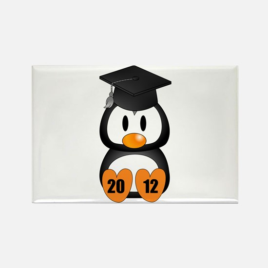 Custom Gradution Penguin Rectangle Magnet
