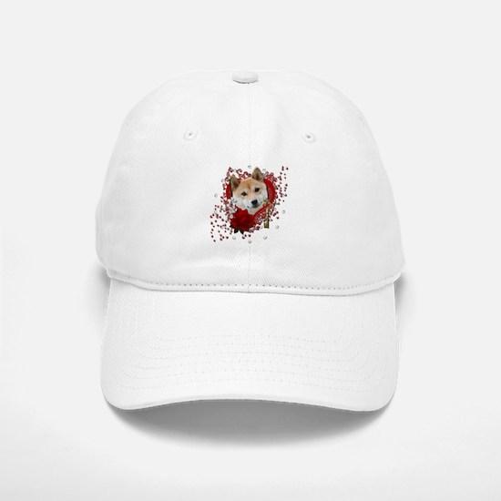 Valentines - Key to My Heart Shiba Inu Baseball Baseball Cap