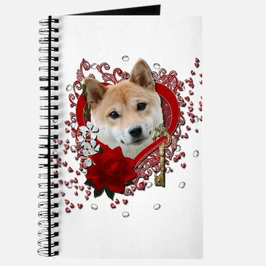 Valentines - Key to My Heart Shiba Inu Journal