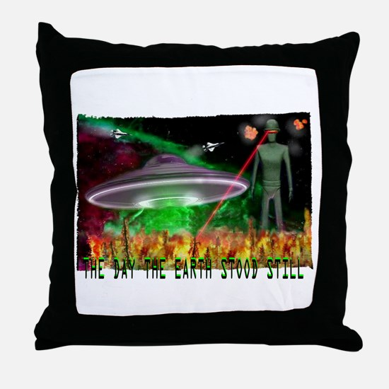 the day the earth stood still Throw Pillow