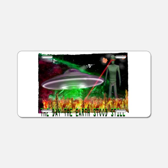 the day the earth stood still Aluminum License Pla