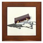 Briefcase on Gurney Framed Tile