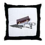 Briefcase on Gurney Throw Pillow