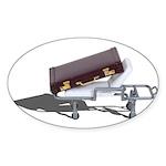 Briefcase on Gurney Sticker (Oval 50 pk)
