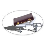 Briefcase on Gurney Sticker (Oval 10 pk)