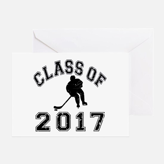 Class Of 2017 Hockey Greeting Card