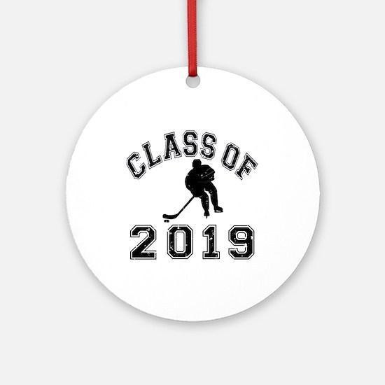 Class Of 2019 Hockey Ornament (Round)