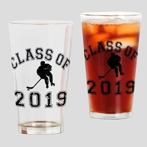 Class Of 2019 Hockey Drinking Glass