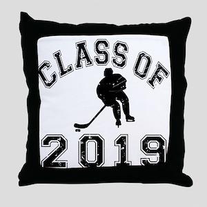 Class Of 2019 Hockey Throw Pillow