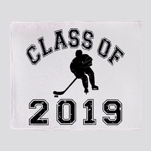 Class Of 2019 Hockey Throw Blanket
