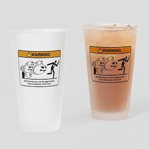 Homebrew Danger! Mutant Yeast Drinking Glass