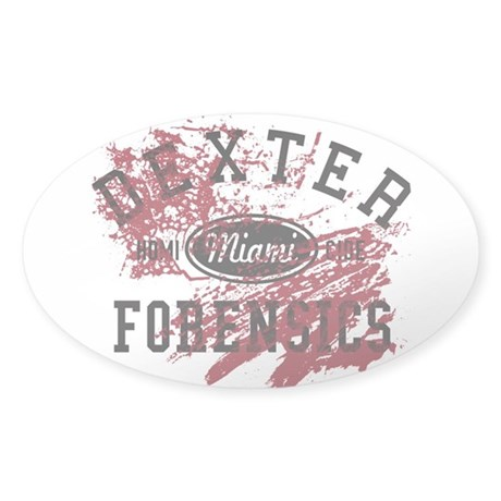Dexter Forensics Sticker (Oval)