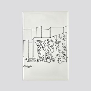 Rat's Wallpaper the Maze Rectangle Magnet