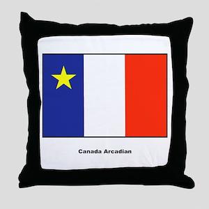 Canada Arcadian Flag Throw Pillow