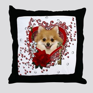 Valentines - Key to My Heart Pomeranian Throw Pill