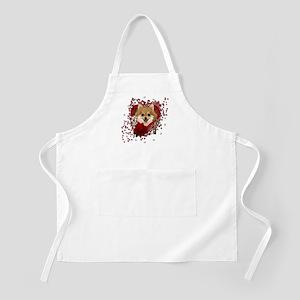 Valentines - Key to My Heart Pomeranian Apron