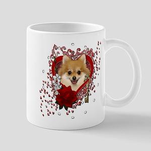 Valentines - Key to My Heart Pomeranian Mug