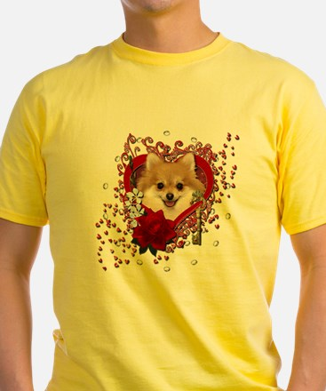 Valentines - Key to My Heart Pomeranian T
