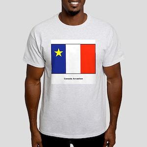 Canada Arcadian Flag (Front) Ash Grey T-Shirt