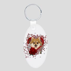 Valentines - Key to My Heart Pomeranian Aluminum O