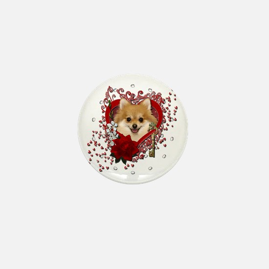Valentines - Key to My Heart Pomeranian Mini Butto