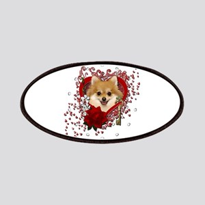 Valentines - Key to My Heart Pomeranian Patches