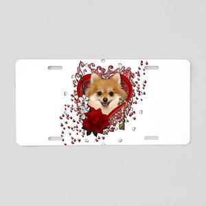 Valentines - Key to My Heart Pomeranian Aluminum L