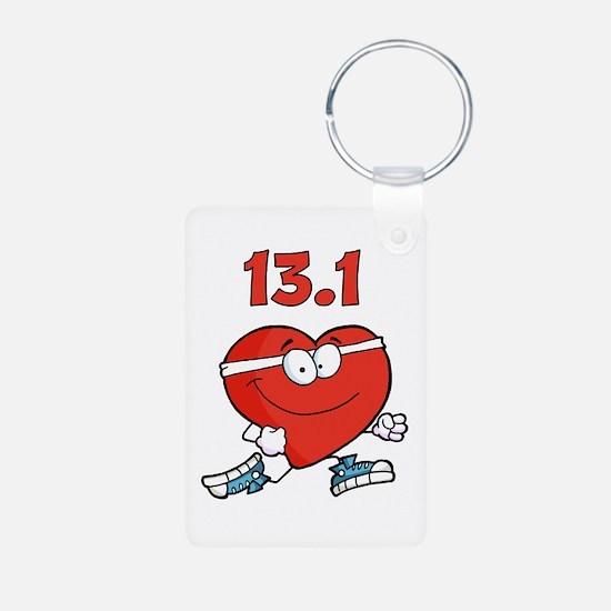 Half-marathon heart Keychains