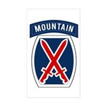 10th Mountain Sticker (Rectangle)