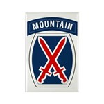 10th Mountain Rectangle Magnet