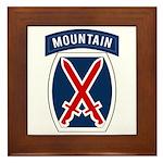 10th Mountain Framed Tile